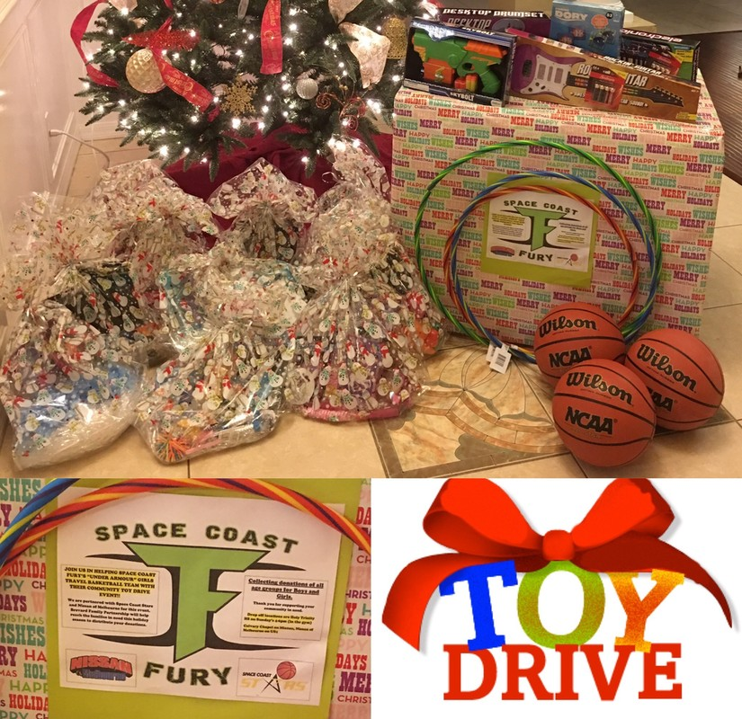 Space Coast Fury and Space Coast Stars December Toydrive